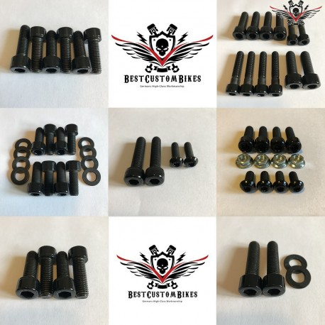 Harley-Davidson Chassis Screws Kit Black V-Rod® Night Rod Special® Muscle® 2007+