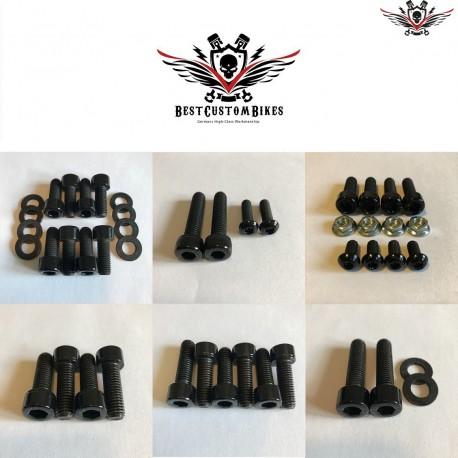 Harley-Davidson Chassis Screws Kit Black V-Rod® Night Rod Special® 2002-2006