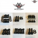 Harley Chassis Screws Kit Black V-Rod® Night Rod Special® Muscle® 2002-2006